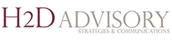 Logo H2D Advisory, Strategy & communication advisory